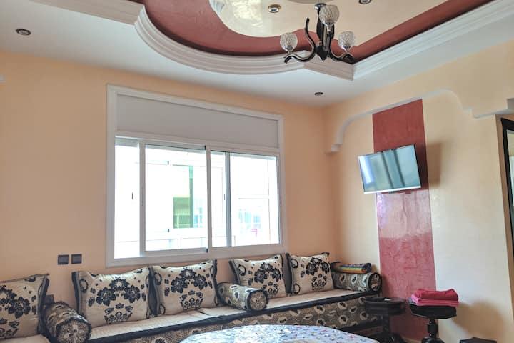 Appart comprenant Salon + 2 chambres à Kenitra