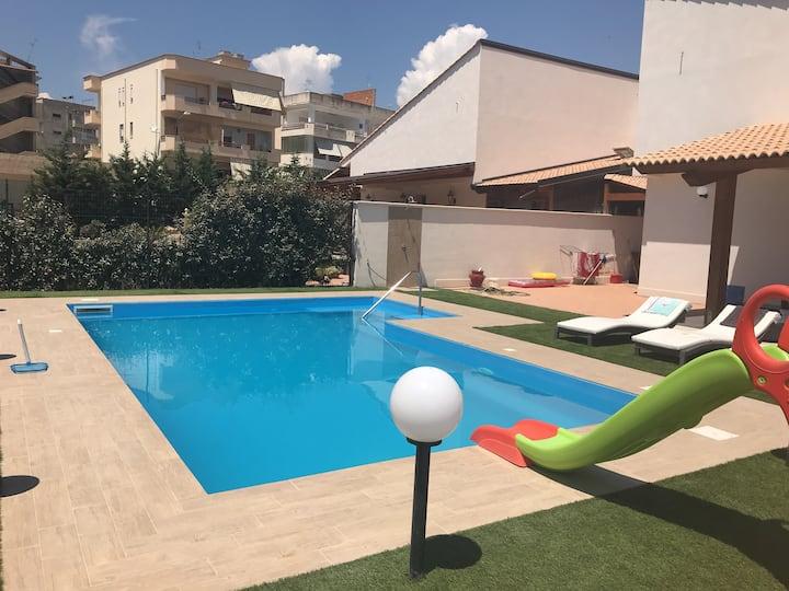 Villa dodó con piscina privata, barbecue e amaca