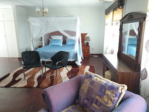 Cosy space on secured area, clean and private area
