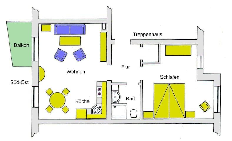 Bansin - Aquamarina Wohnung 7, Ferienwohnung Aquamarina, Wohnung 7