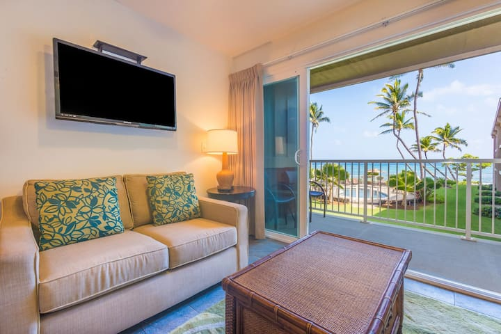 2 Bedroom Ocean View Kapaa Condo with Pool