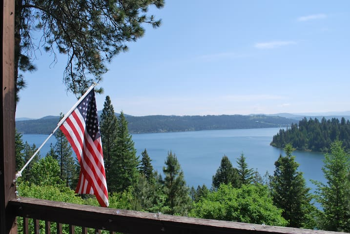 Lake Coeur d' Alene Cabin - Amazing Views! - Worley - Blockhütte