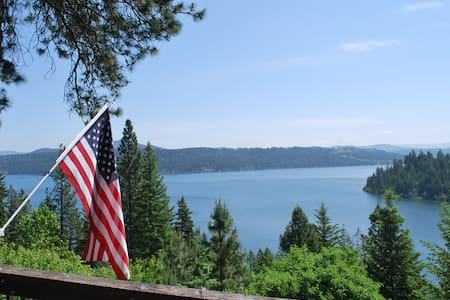 Lake Coeur d' Alene Cabin - Amazing Views! - Worley