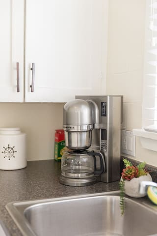 All kitchen appliances are at your disposal and picked just for you.