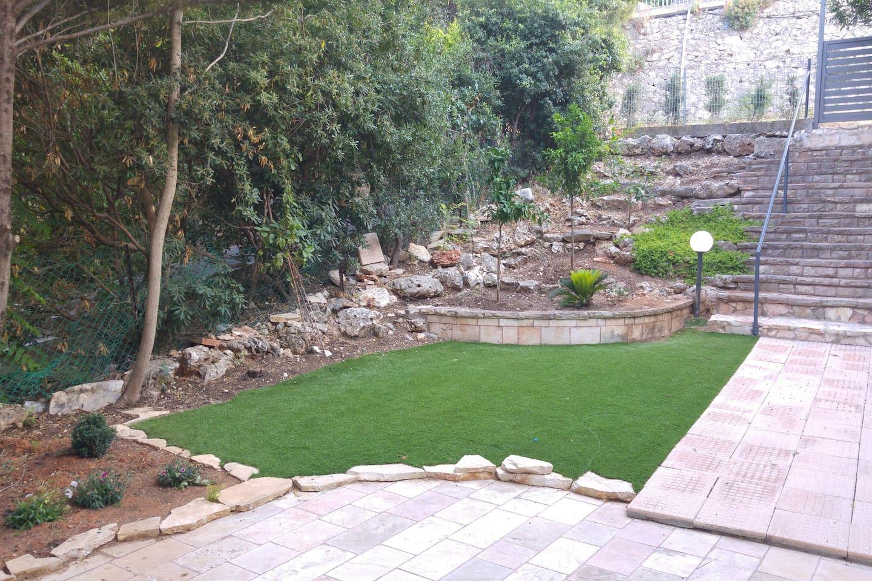 A huge private garden