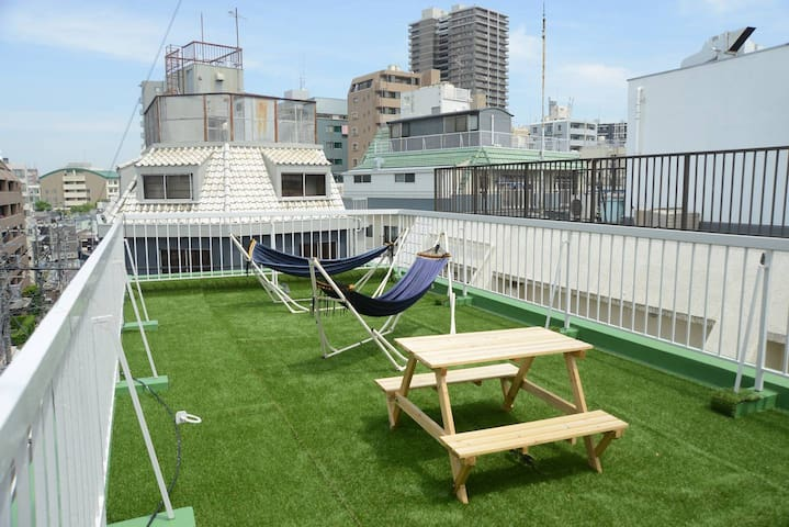 Designer's spacious Japanese room 45sqm /5min JR