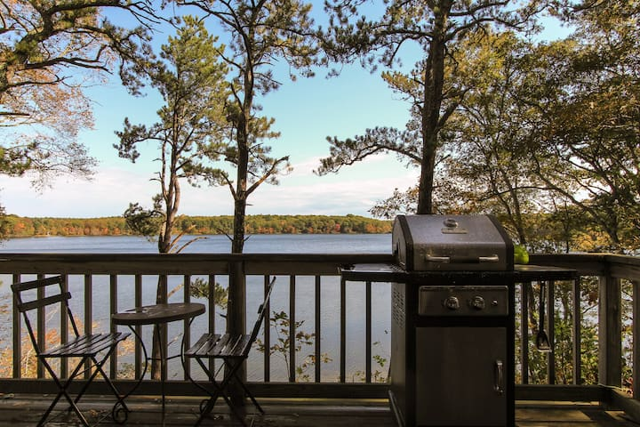 Lake Front Stunning Cape Cod Views w Private Beach