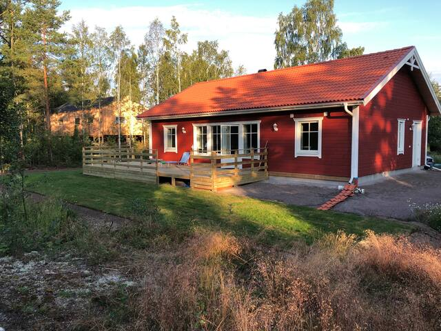 New Swedish House top modern close  to a big lake