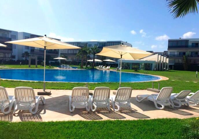 Ferienwohnung/App. für 6 Gäste mit 80m² in Résidence Blanca Beach, Sidi Rahal Maroc (122220)