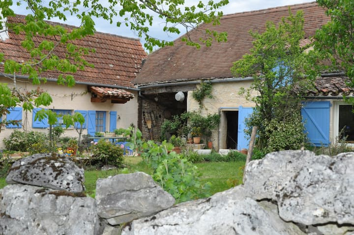 Blue House, restored old farm, Quercy, south west