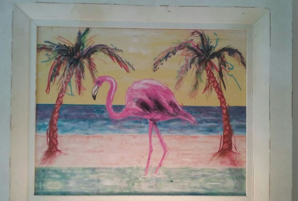 Bright & Colorful Flamingo Art