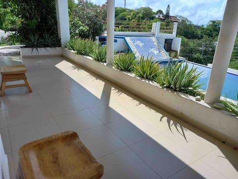 Oceanfront Pool Apartment