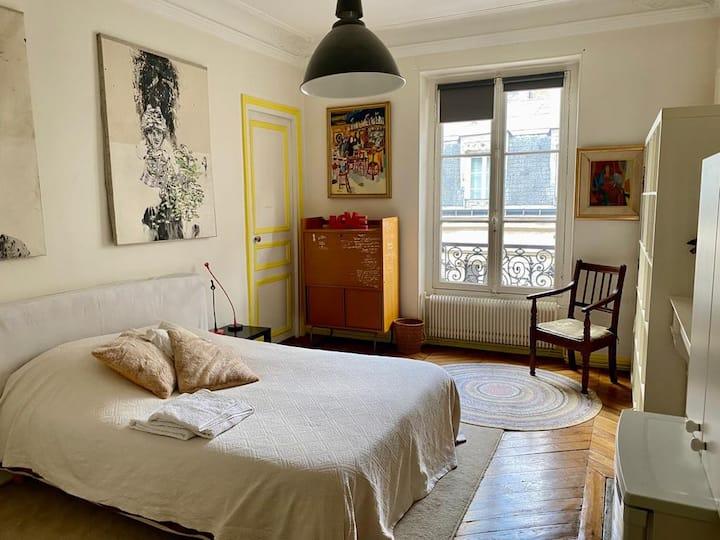 Grande chambre dans appartement proche Tour Eiffel