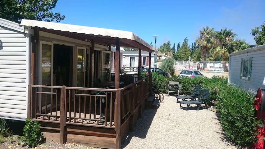 Mobilhome 4/6 pers Camping**** Plage Mer ANCV