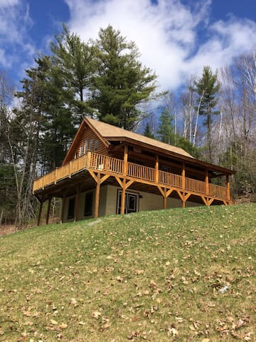 Beautiful Custom Log Cabin near White Mountains - Haverhill - Cabana