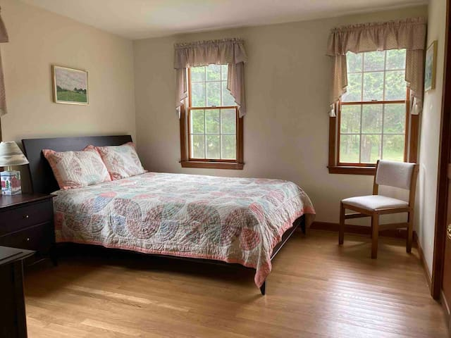 Cozy Master Bedroom with double closets, so lots of storage