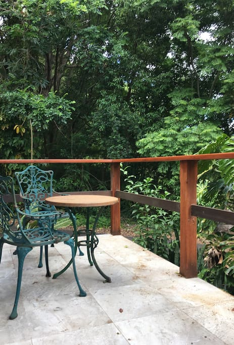 Private verandah gets cool breeze in the afternoon.