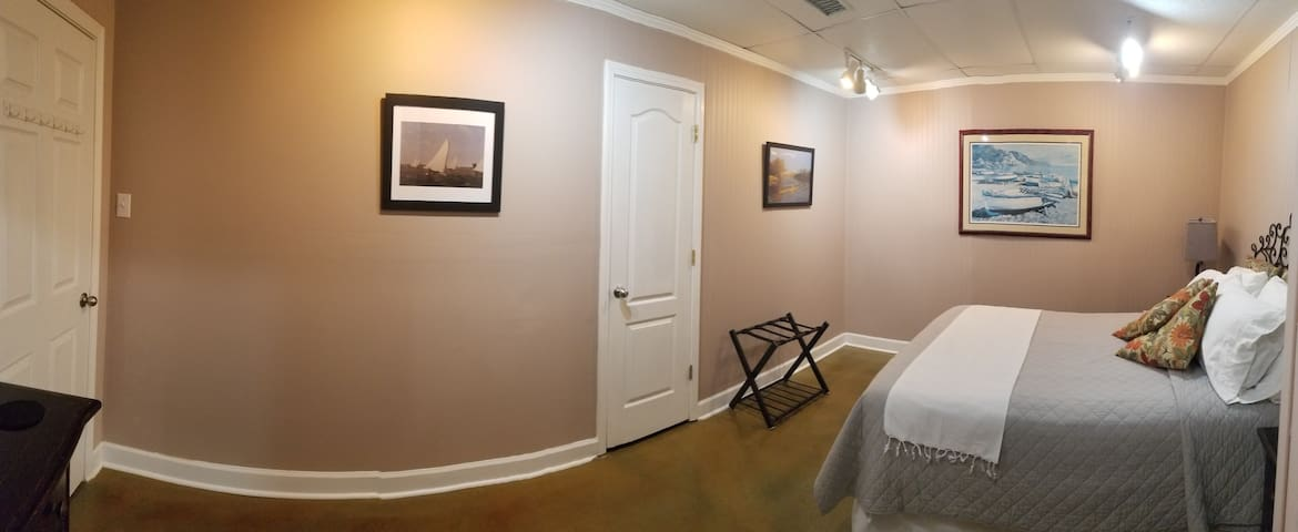 Bedroom Two includes prints by American Artist Thomas Eakins: Judy's distant uncle.