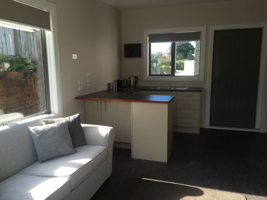 Living space with kitchenette