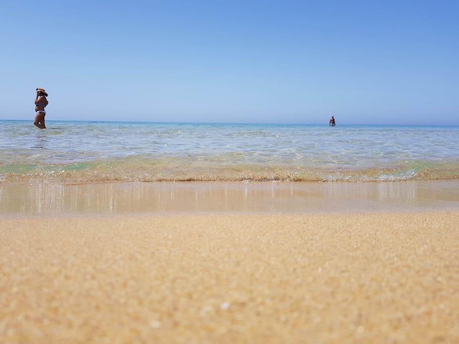 Le spiagge a pochi passi dalla nostra villetta.