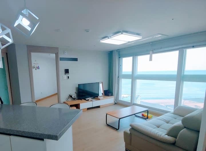 'Shim Solar' 울산바다 산하 강동 정자해변 정자해수욕장 오션뷰, 콘도 펜션 숙소