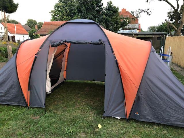 Zelten auf der Insel Rügen