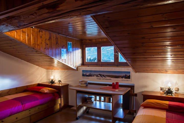 Teglio mansarda accogliente per vivere la montagna - Teglio - Apartemen