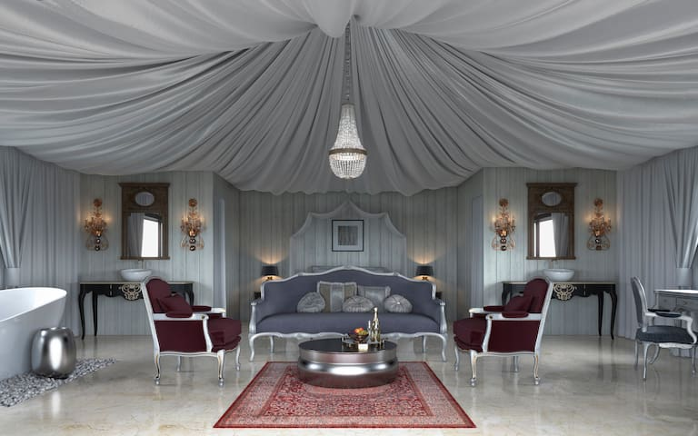 Royal Tent with Wi-Fi, hot tube and breakfast - Casares