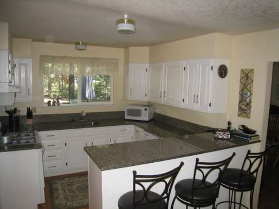 nicely updated kitchen