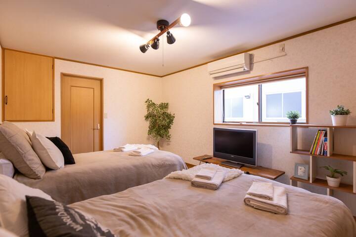 Central 3BR 5min to Namba Kitsune House KT01 12ppl