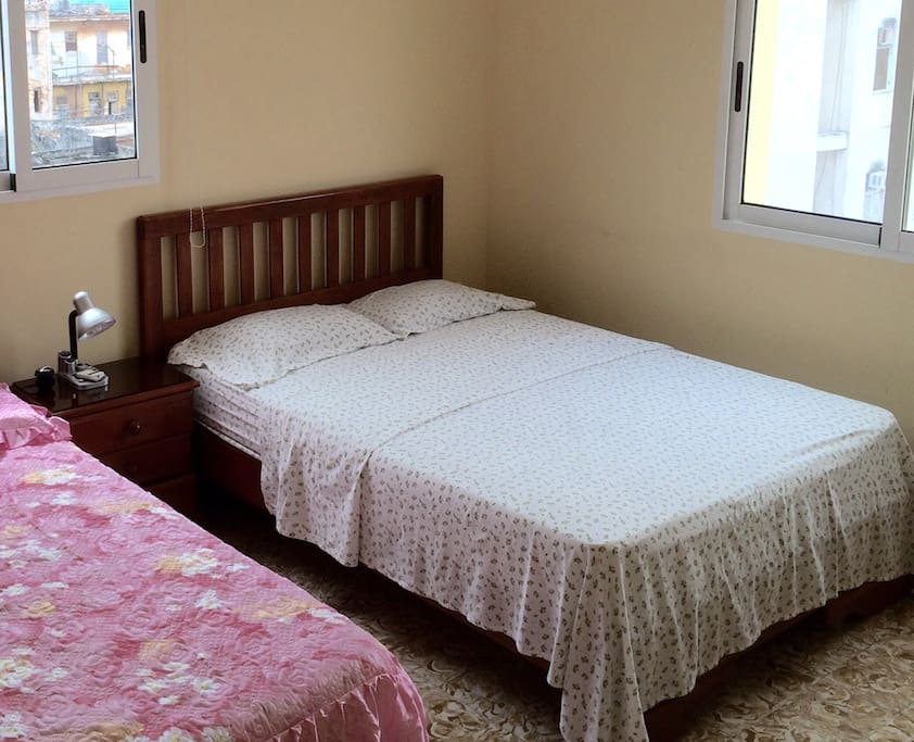 Two double beds in each airconditioned bedroom