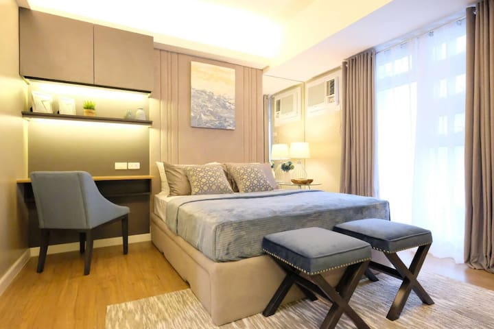 Furnished Condo across Ayala + Cable & Internet