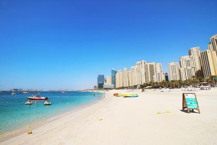 Luxury 1BR in JBR, 3 mins from beach, Dubai Marina