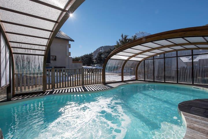Appart Cosy 8p, à 300m des pistes, accès piscine