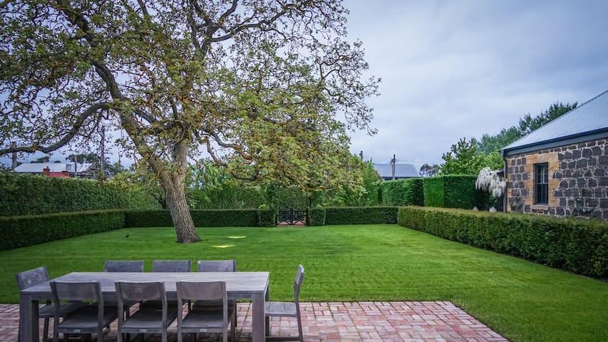 The Walnut tree lawn.