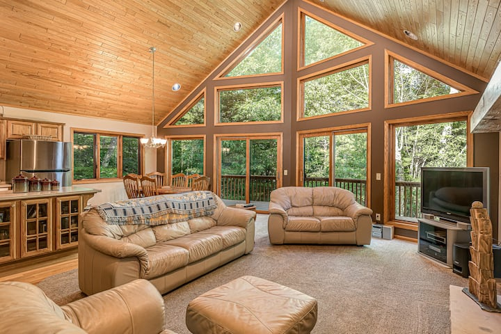 New listing! Family-friendly, lakefront home w/ private dock, balcony, & firepit