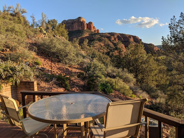 Breathtaking Cathedral Rock Patio Views 2BR 2BA 🏜