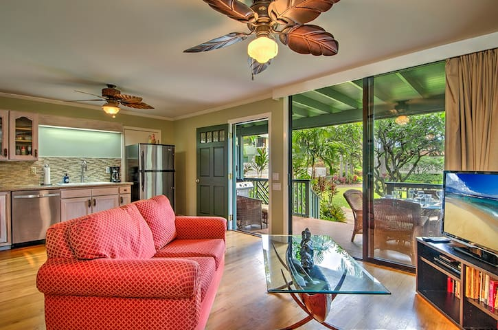 Air Cond. W/Gourmet Kitchen Steps To Poipu Beach