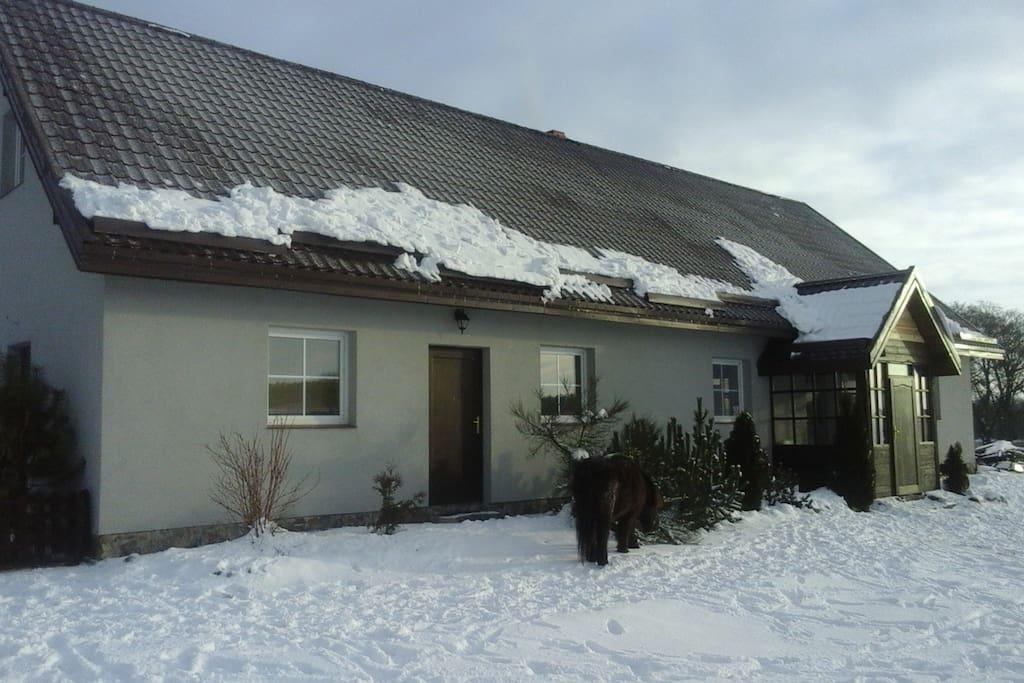 Gościniec Tymawa zimą