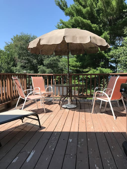 Private deck with BBQ and spectacular views