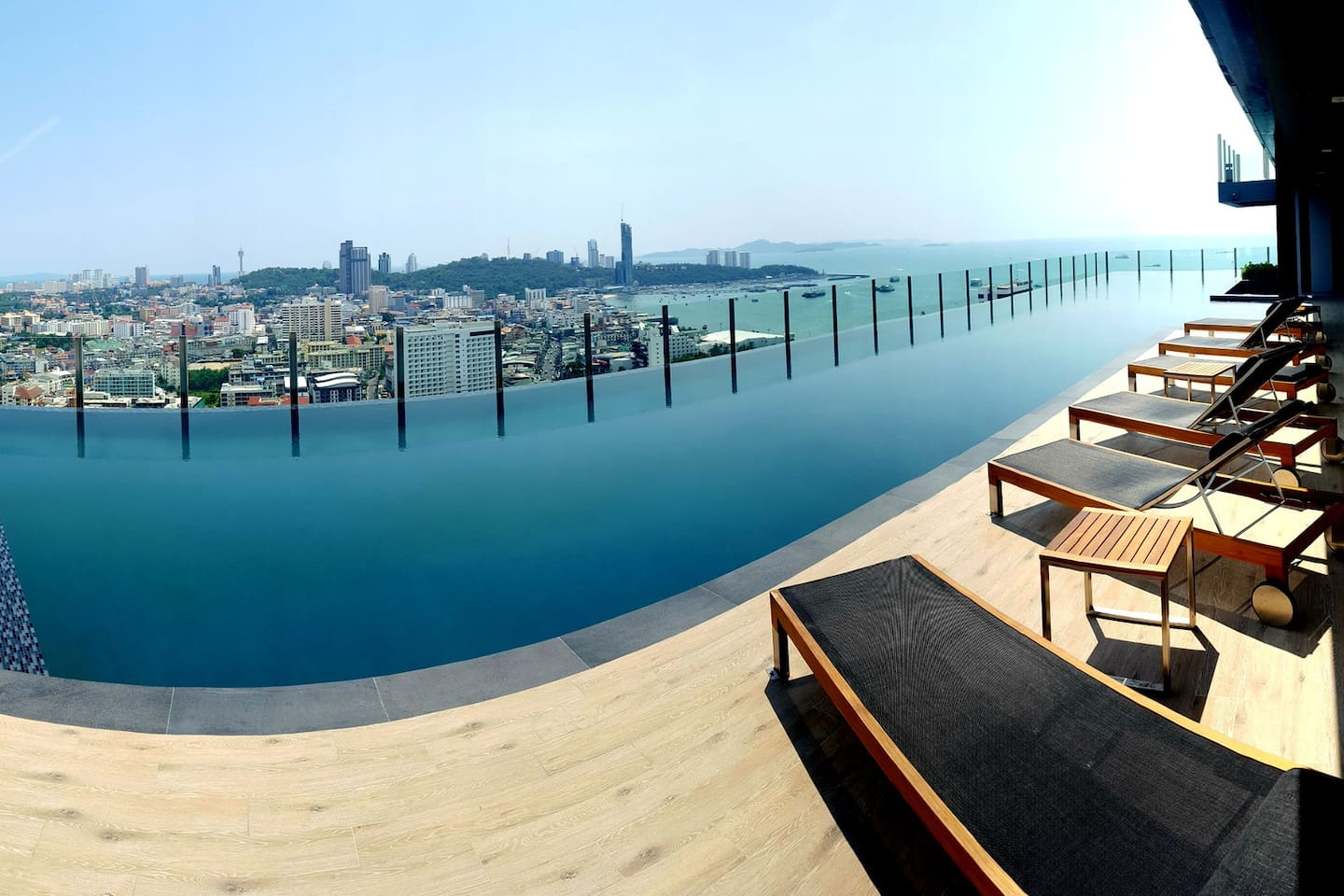 Panoramic view swimming pool