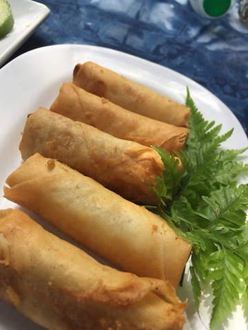 Home made spring  Roll for our Valuable guest