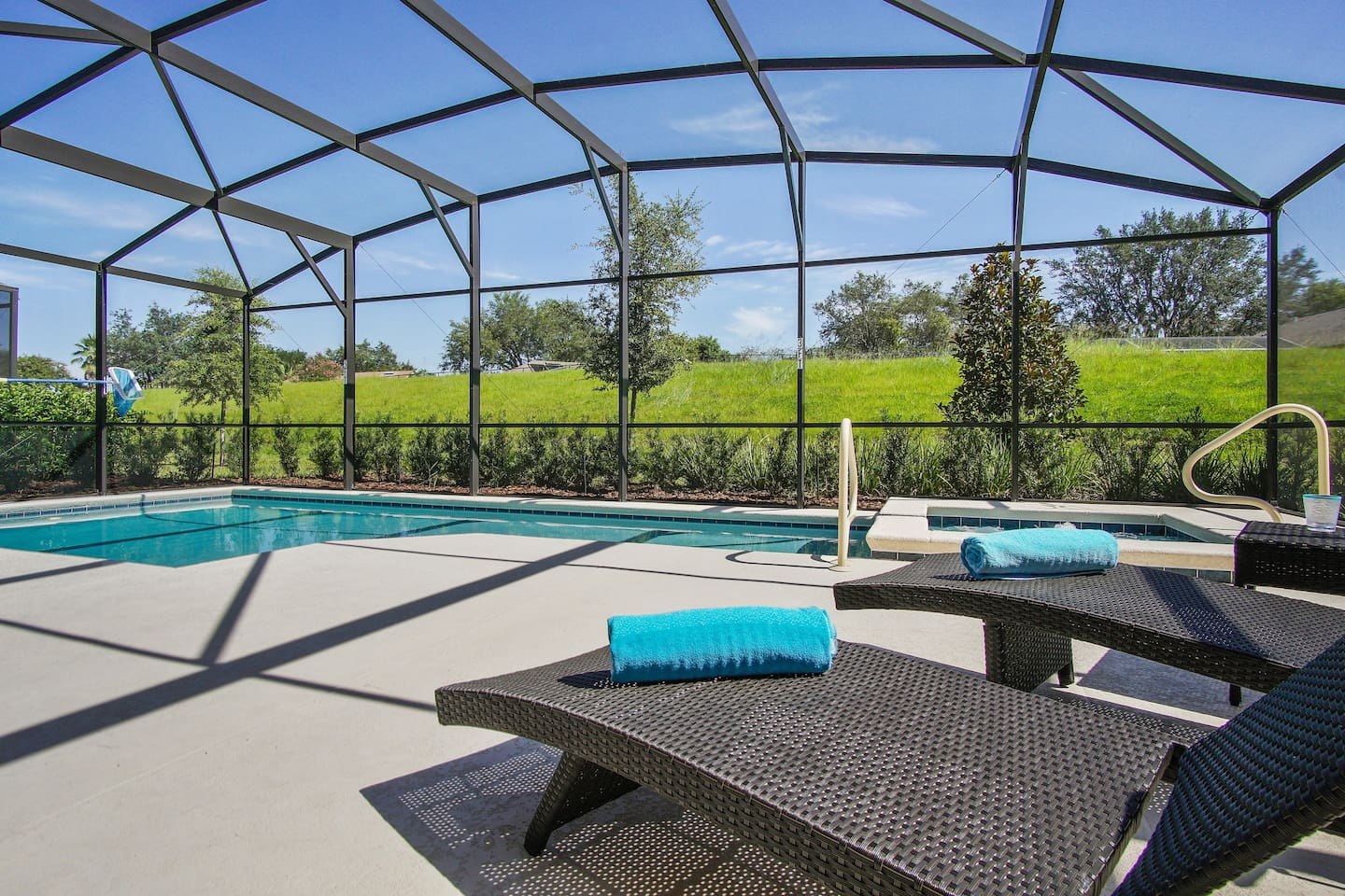 Soak up the sunshine in your own private pool area!