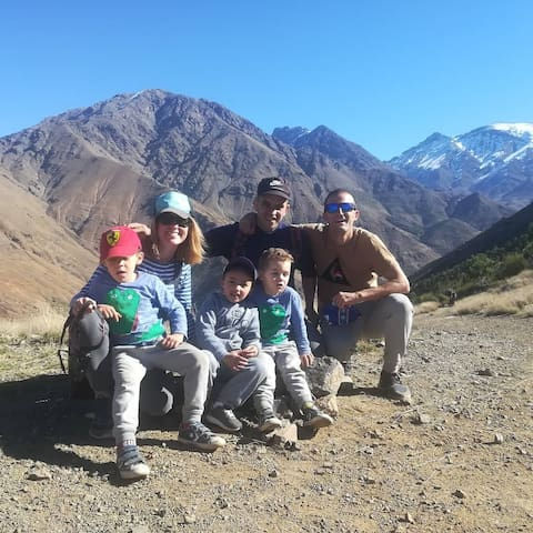 Trekking from Berber Family to tizi Aguersioual (2050m) nice view