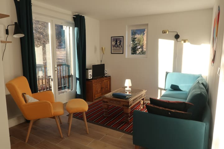 Sunny flat, close to Ski lifts and 'Grands Bains'