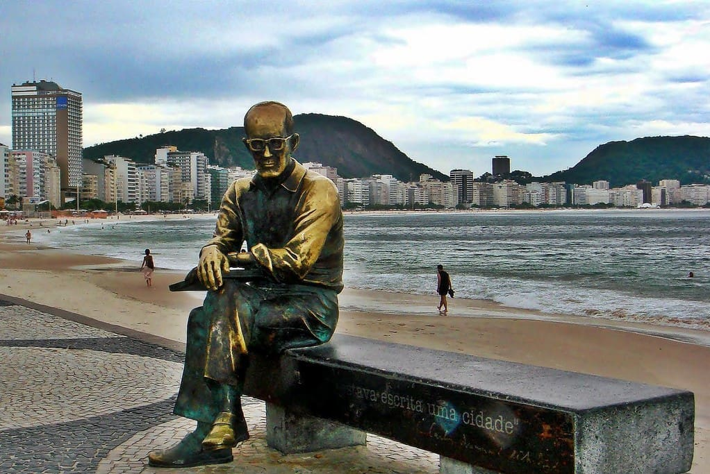 Carlos Drummond de Andrade, brazilian famous writer, former resident of Copacabana.