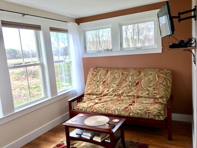 Sitting room area complete with a terrific marsh view!