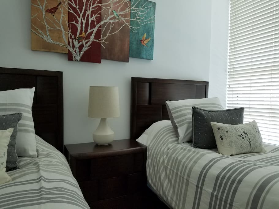 Second bedroom- bed can be converted to a King size