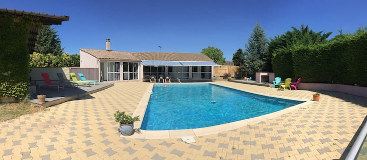 gite piscine et soleil