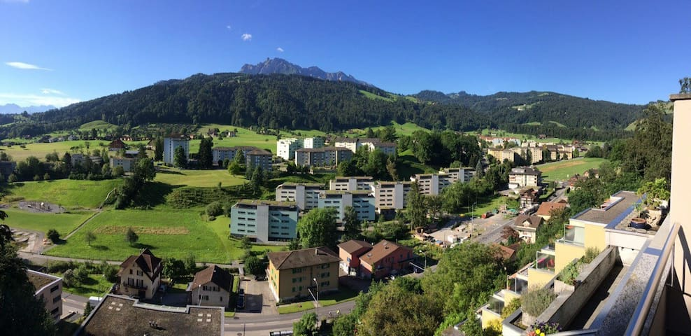fantastic view, just 15 minutes to city center - Obernau - Apartment